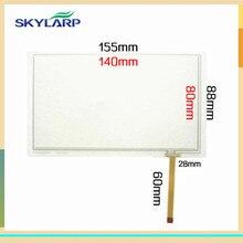 Skylarpu 2 unids 6.2 pulgadas 155mm * 88mm Táctil Resistiva Digitalizador de Pantalla para el Coche DVD de navegación tablet PC panel de pantalla táctil de cristal