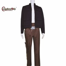Cosplaydiy Movie Star Wars ESB The Empire Strikes Back Han Solo Costumes For Adult Halloween Cosplay Clothing Custom Made D0808