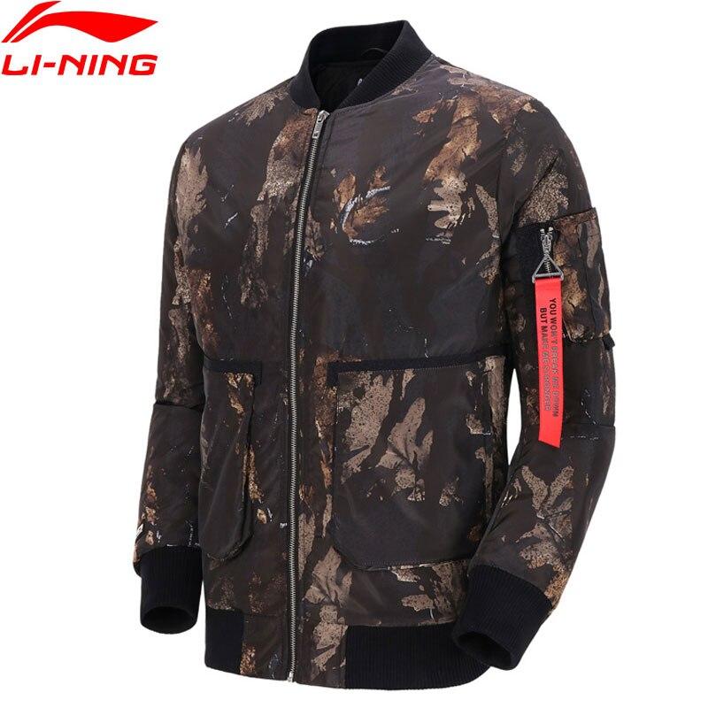 Li Ning Men Basketball BAD FIVE Wadded Coat with Strap 100 Polyester Filling Warm LiNing Sport
