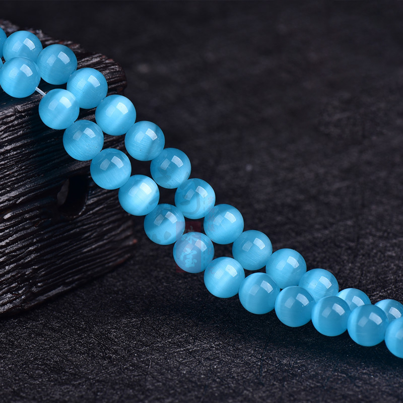 6 8 10mm 5A Bead Wholesale Natural Cat's Eye Stone Beads, Diy Beads Bracelet Semi-finished Products, Jewelry Accessories