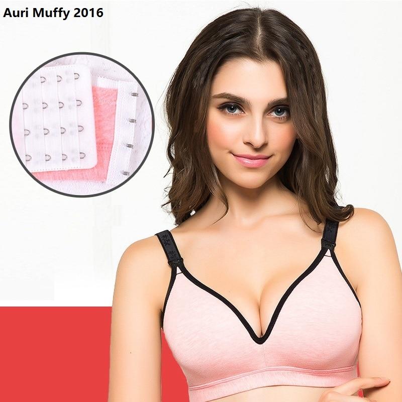 Auri Muffy 2016 One piece model seamless nursing bra Maternity Underwear Breast Feeding Bra Pregnant women