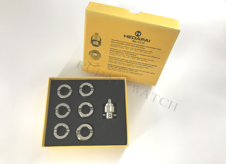 #5538 Watch Case Opener Dies & Adaptor For #5700 Oyster Watch Case Opener