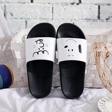 2019 Women Slippers Summer Women Slides Cute Cartoon Platform Sandals Slip On Flip Flops Beach Slippers zapatos de mujer(China)