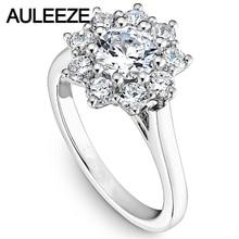 Love With Flower Lab Grown Diamond 14K White Gold Engagement Ring Moissanites Wedding Ring For Women Best Christmas Gift Jewelry