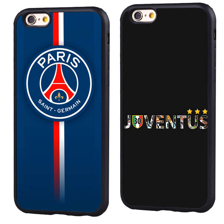 Paris juventus fc Football club Famous Soccer Soft TPU Silicone case Cover For iPhone X 8 7 7Plus 6 6S Plus 5 5S SE