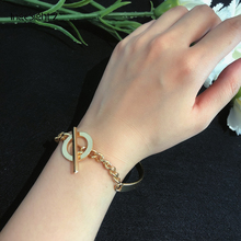 цена IngeSight.Z Fashion Gold Color Round Lasso Bracelets Bangles Women Simple Minimalist Friendship Bracelet Wrist Chain Accessories онлайн в 2017 году