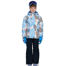Winter Boy Ski Suit Outdoor Sports Single Snowboard Jacket + Snow Pants Waterproof Kids Skiing Set Roupa De Warm And Windproof 2 7t winter baby ski romper boy snow catsuit waterproof outdoor snow rompers kids jumpsuit girls overall windproof creepers