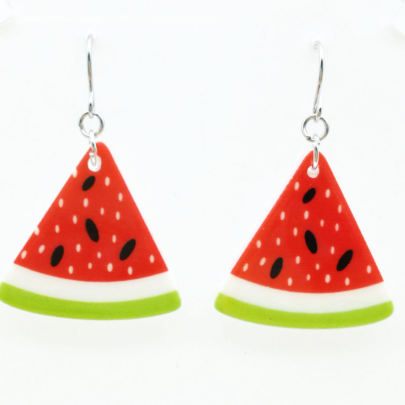4 pairs of free shipping fashion yakeli watermelon fruit earrings size ...