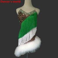 Перьевая юбка с бахромой, женское платье для танго сальсы бальных танцев, платье для танцев, костюм для вечеринок, женские платья с кисточка