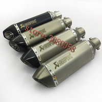 UNIVERSAL MOTORCYCLE EXHAUST Muffler SCOOTER For Most Motorbike