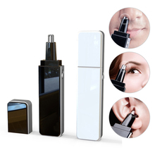 Protable Mini Nose Hair Trimmer With Led Light For Men Professional Ear Nose Facial Hair Trimmer Shaver Electric Hair Removal