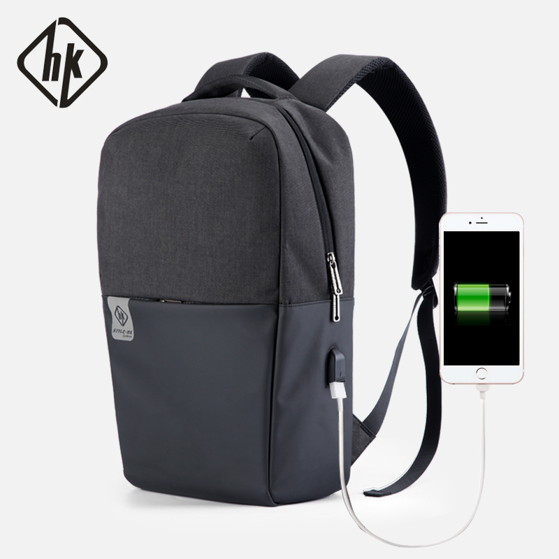 Travel Backpack Men Anti Theft Korean Style School Backpack Male Laptop Back Pack 15.6 USB Bag Black Grey Waterproof School Bags augur 2018 brand men backpack waterproof 15inch laptop back teenage college dayback larger capacity travel bag pack for male