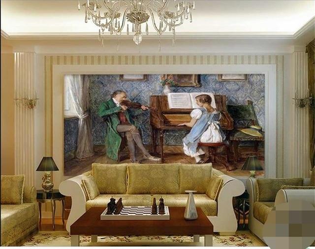 3d wallpaper mustom photo wallpaper living room mural music class ...