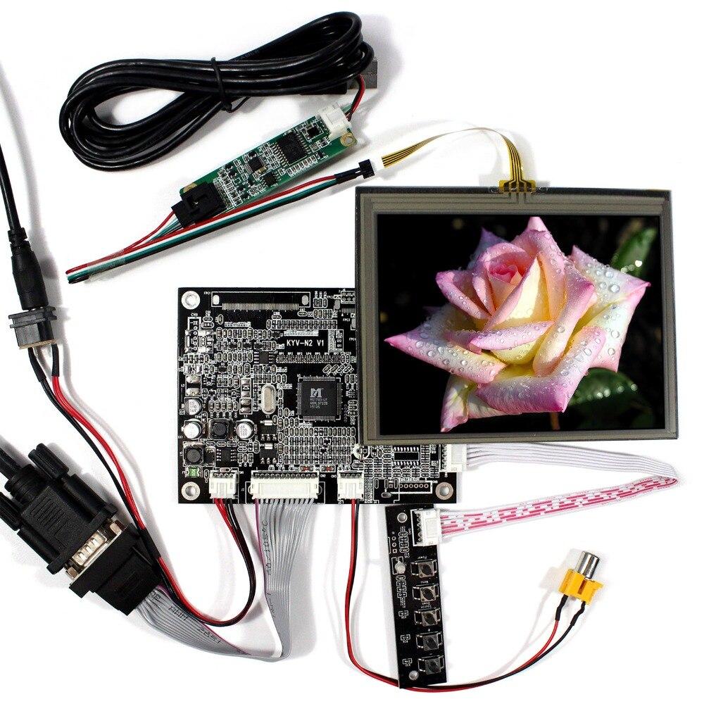VGA+AV LCD Driver Board With 5.6inch AT056TN53 640x480 LCD Screen With Touch Panel 40pin lcd driver board av vga board at070tn83 v 1 at056tn53 v 1