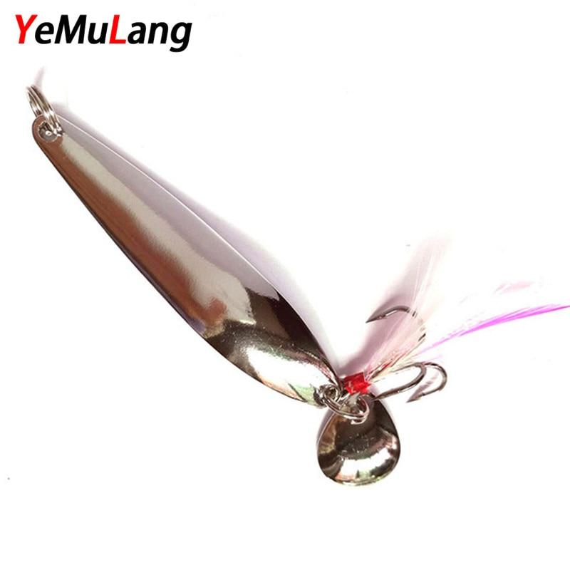 YeMuLang Marka 1 ADET Ile Metal Pul Balıkçılık Lure Tüy Tiz - Balık Tutma