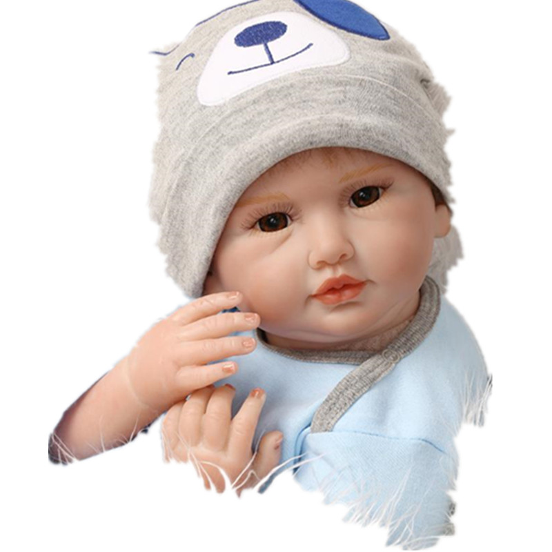 55cm Reborn Baby Doll Real Silicone Doll Kids Toys Girls Bebes De Silicona Birthday Gift Juguetes