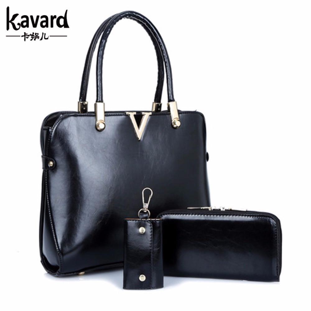 Spanish Brand Solid Purses+Shoulder +Handbag 3 PCS/Set ...