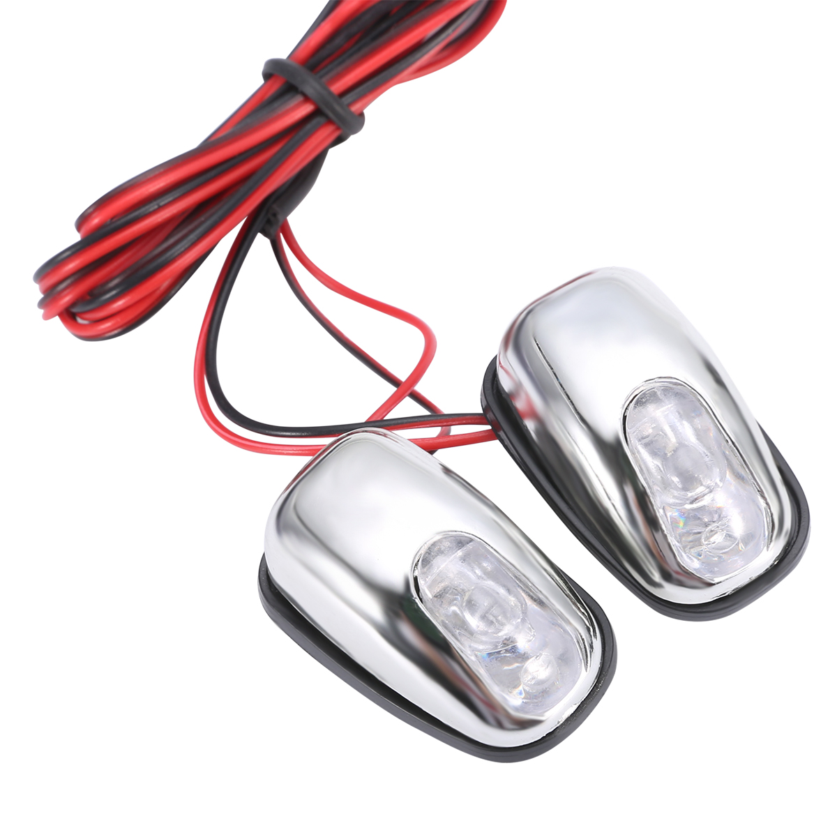 Image 2 - 1Pair Auto White LED Light Windshield Windscreen Jet Spray Nozzle Wiper Washer Lamp Accessories 12V-in Decorative Lamp from Automobiles & Motorcycles