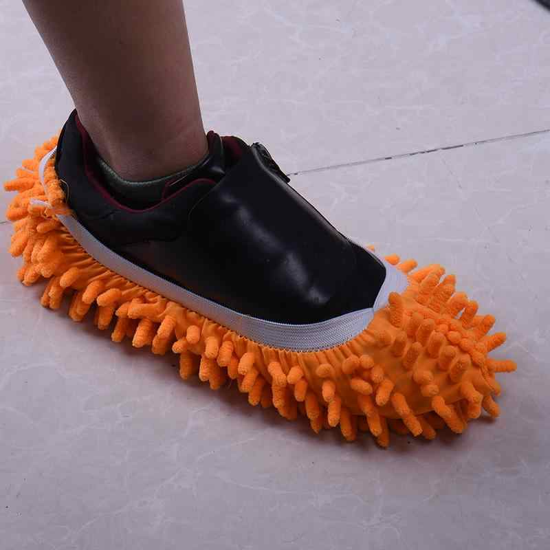 Microfiber Floor Cleaning Mop Slippers House Bathroom Dust Cleaner Lazy Shoes Cover Detachable Floor Wipe Chenille Kitchen