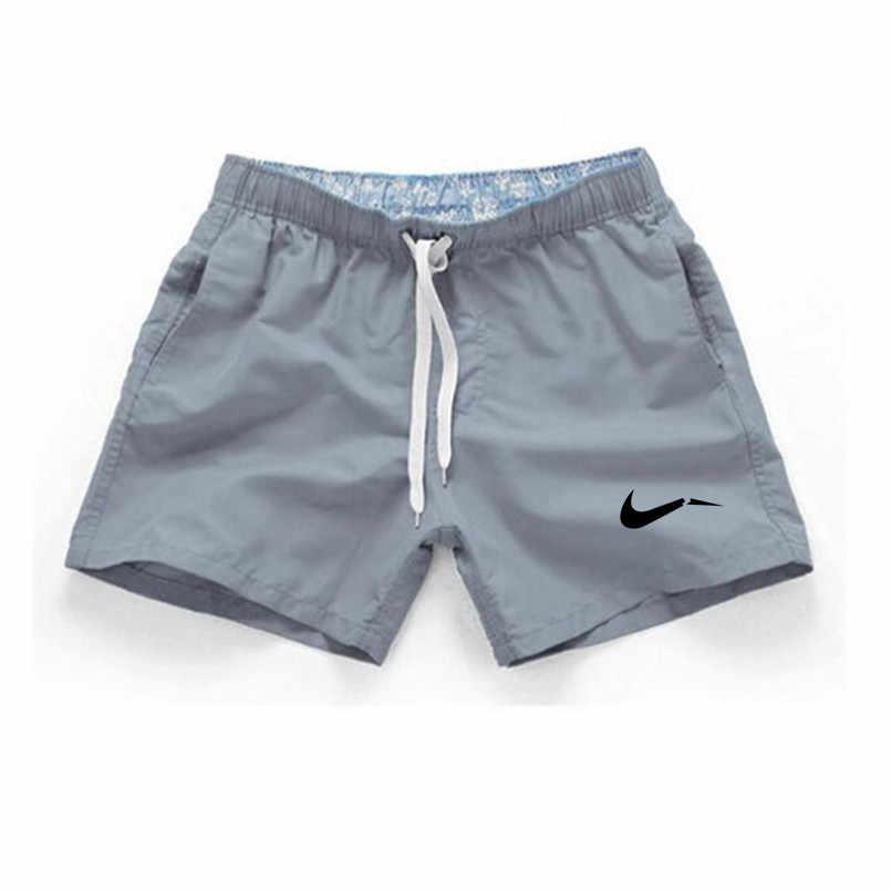 2019 Verão Homens Praia Curta Impressão Marca Casual Shorts Homens Dos Homens do Estilo Da Moda Apenas Quebrá-lo Bermuda de Praia Mais tamanho 3XL