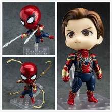 Cartoon Avengers Endgame Iron Spiderman Spider man 1037 PVC Action Figure doll model toy