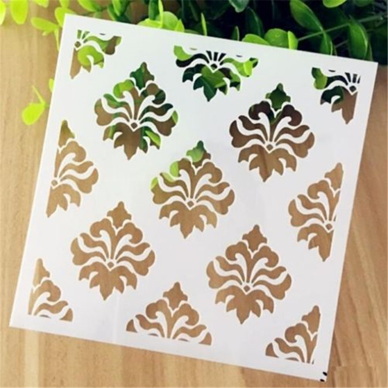 Vintage Relief Pattern Layering Stencil Template DIY Scrapbooking Home Decor