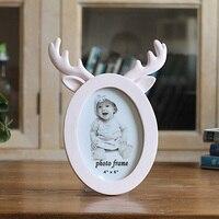 6 дюймов милые смолы рога кошка уши кролика Рамка s Сладкий Дизайн и декор стол фото Рамка Люкс Baby Shower Свадебная пользу подарки
