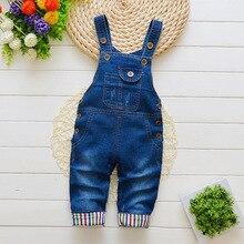 Newborn pants Baby denim overalls children autumn Infant Rompers child bib pants kids boy girl trousers for toddler longs jeans