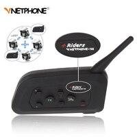4 Riders 1200M V4 BT Multi Interphone Bluetooth Intercom Waterproof FM Motorcycle Headphone Helmet Headset Communicator
