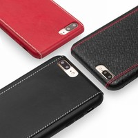 QIALINO Business Fashion Pattern Genuine Leather Phone Case For Iphone8 Plus Back Cover Capa Coque For