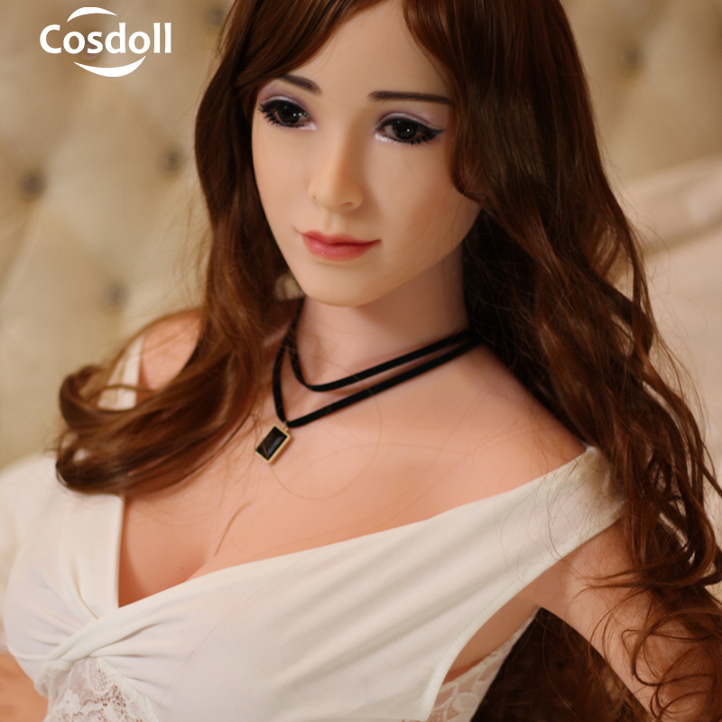 Cosdoll 148cm Soft TPE Silicone Sex Doll with Skeleton Realistic Big Breasts 3D Vagina Pussy Sex Dolls for Men Masturbation cosdoll tm 162cm newest tan shemale sex doll 3d dildo vagina big breasts bisexual silicone sex dolls for men women gay lesbian
