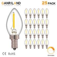 Ganriland C7 Led Dimbare Lamp E14 E12 0.5 W Koelkast Led Gloeidraad Gloeilamp 2700 K 110V 220V kroonluchter Hanger Edison Lampen