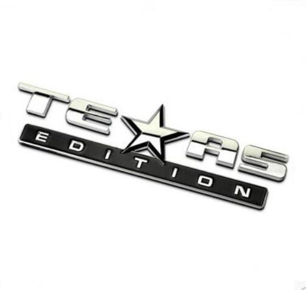 Dsycar 3D ABS TEXAS EDITION Car Sticker Emblem Badge For Jeep BMW Ford Volvo Nissan Mazda Audi Honda Toyota Lada Chevrole VW