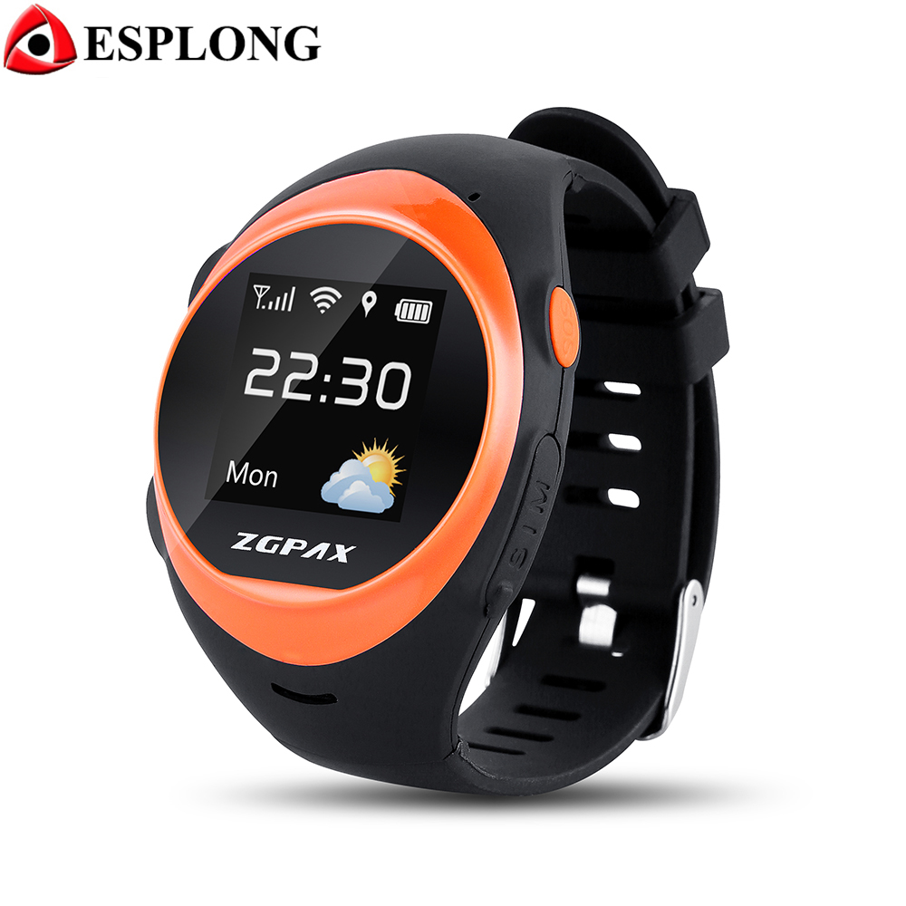 ZGPAX S888 Upgrade Smart Watch Phone SOS LBS Wifi Locate Anti Falling Alarm Remote Smartwatch Safety GPS Watch for Children Kids