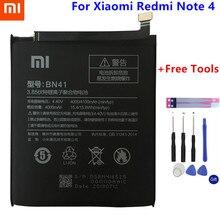 Xiao mi Оригинальный Настоящее 4100 мАч BN41 батарея для Xiaomi Redmi 4 MTK Helio X20/Примечание 4X Pro Helio X20 + инструмент