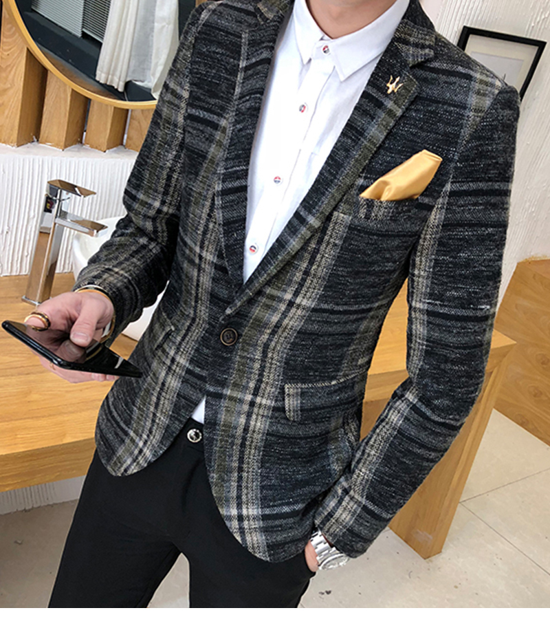 Suit Collar Men Jacket   (5)