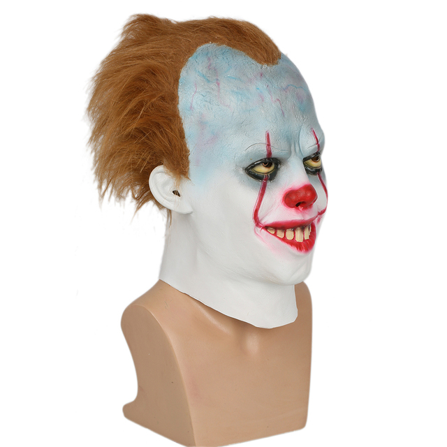 Coslive Pennywise Cosplay Mask Halloween Cosplay Helmet Costume Prop Fpr Men Adult