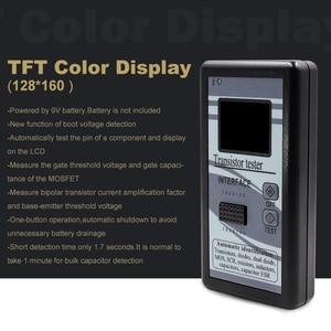 Image 2 - Çok amaçlı transistör test cihazı 128*160 diyot tristör kapasite direnç endüktans MOSFET ESR LCR metre TFT renkli ekran
