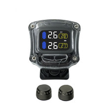 New Motorcycle Tire Pressure Monitoring System with Wireless Waterproof  TPMS USB Power LCD Display
