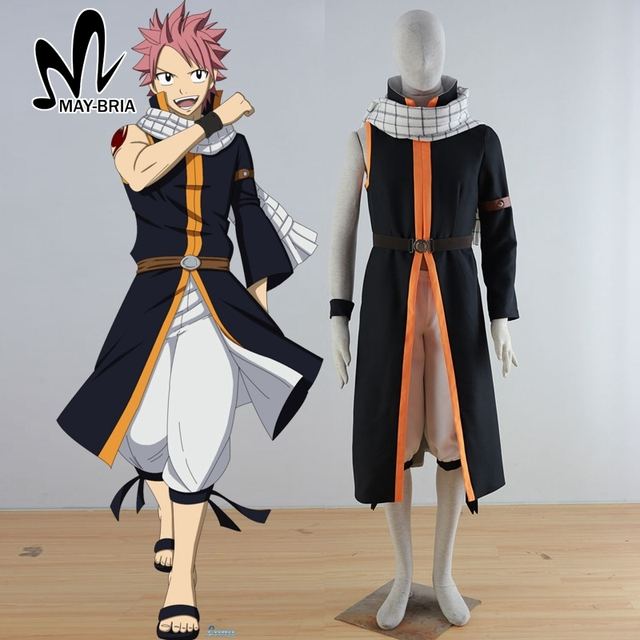 Free Shipping Hot Anime Fairy Tail Natsu Dragneel Cosplay Costume