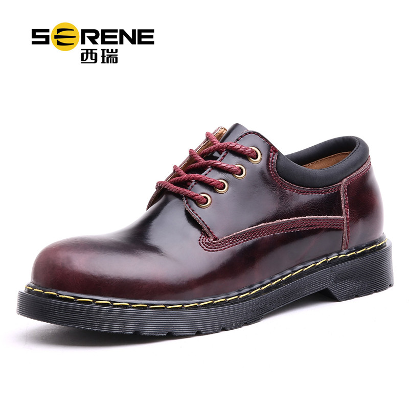 Men's Autumn Genuine Leather Casual Brand Shoes 2018 Fashion Business Lace-up Rubber Shoe For Men Male Breathable Footwear Blue цена