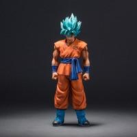 MSP Dragon Ball Super Bleu Dieu Fils Dieu Goku Figurines bleu Cheveux Super Saiyan 25 CM DragonBall PVC Collection Modèle Jouet poupée