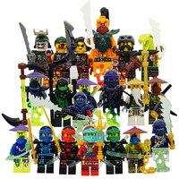 HOT Compatible With LegoINGlys NinjagoINGlys Sets NINJA Heroes Kai Jay Cole Zane Nya Lloyd With Weapons