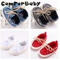 Sapatas de Lona Rendas Sapatos de bebê Antiderrapante Sapatos Da Criança Versão Coreana da Primavera E No Outono Meninos Bombas WMC234