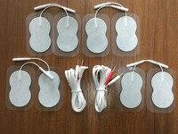 2 Stuk Jack DC 2.35mm 2-pin Elektrodestroomdraden/Kabels Met 4 Paar Elektroden Voor TIENTALLEN Eenheid 7000