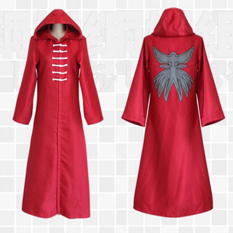 2018 Hot Sell Japanese Anime Halloween Costume For Men Tokyo Ghost Ken Kaneki Cosplay Unisex Red Cloak XH038