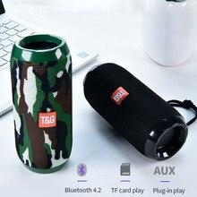 עמיד למים נייד חיצוני Bluetooth רמקול סטריאו סאב Soundbar ספורט תמיכת Tf כרטיס Fm רדיו Aux קלט רמקול