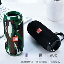 Haut parleur Bluetooth extérieur Portable étanche barre de son stéréo Subwoofer Support Sport carte Tf haut parleur dentrée Radio Aux Fm