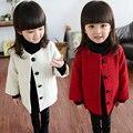 2015 de Alta Calidad de ropa Para Niños Chaquetas Chicas Engrosamiento Ropa de Invierno Abrigo de Niños Ropa de Abrigo Largo de Lana