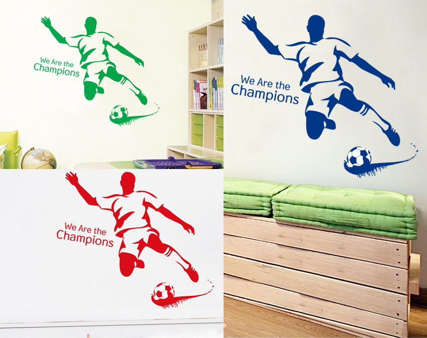 Buy we are the champions football wall for Sports decals for kids rooms